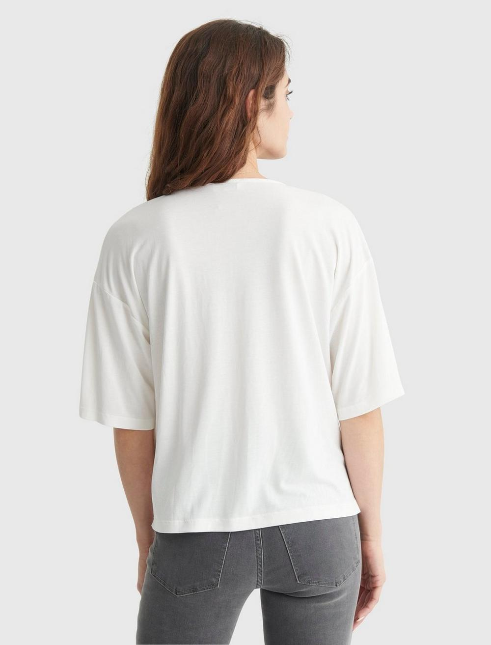 RELAXED-FIT V-NECK KNIT TOP, image 5