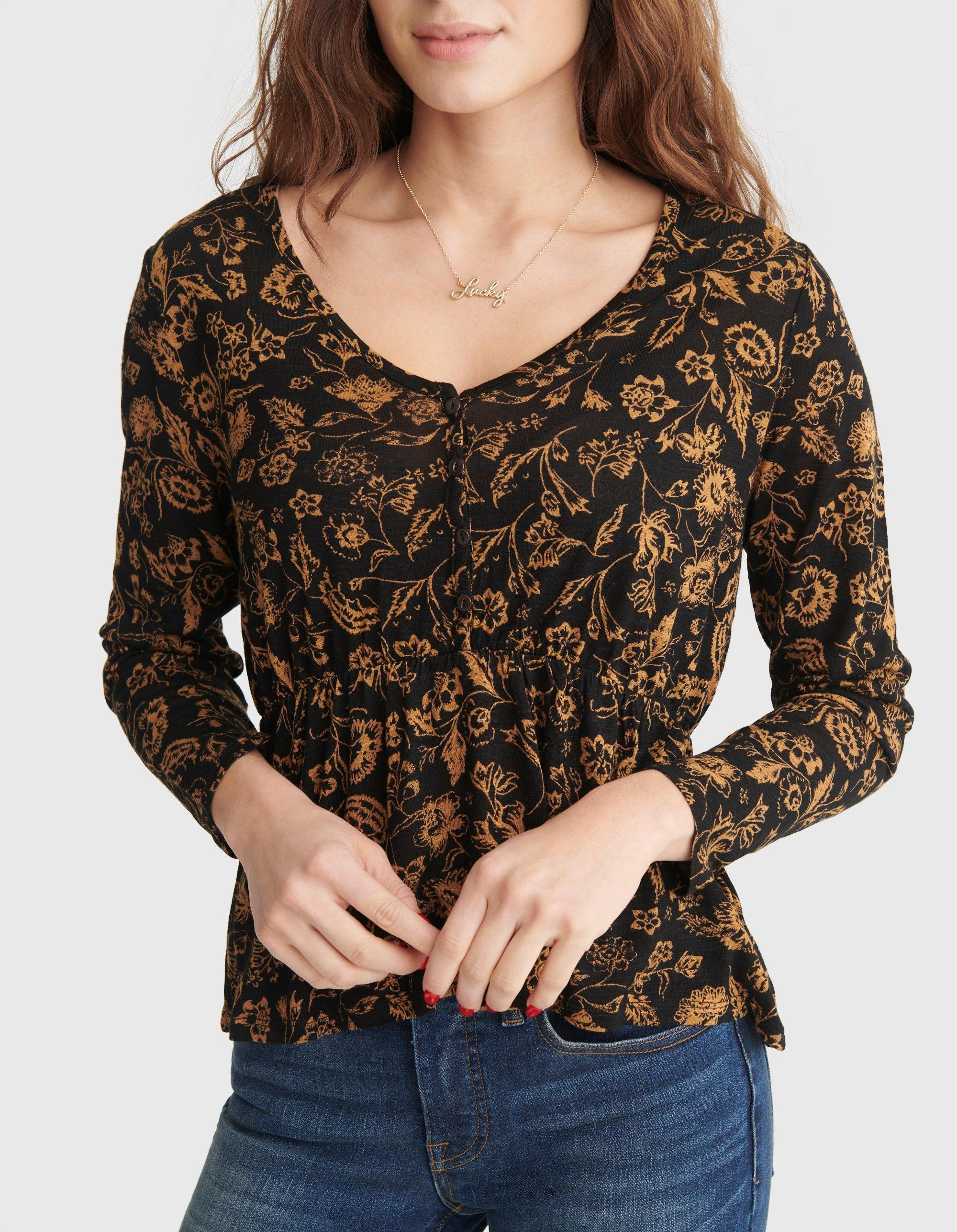 RELAXED-FIT PEPLUM V-NECK TOP, image 4