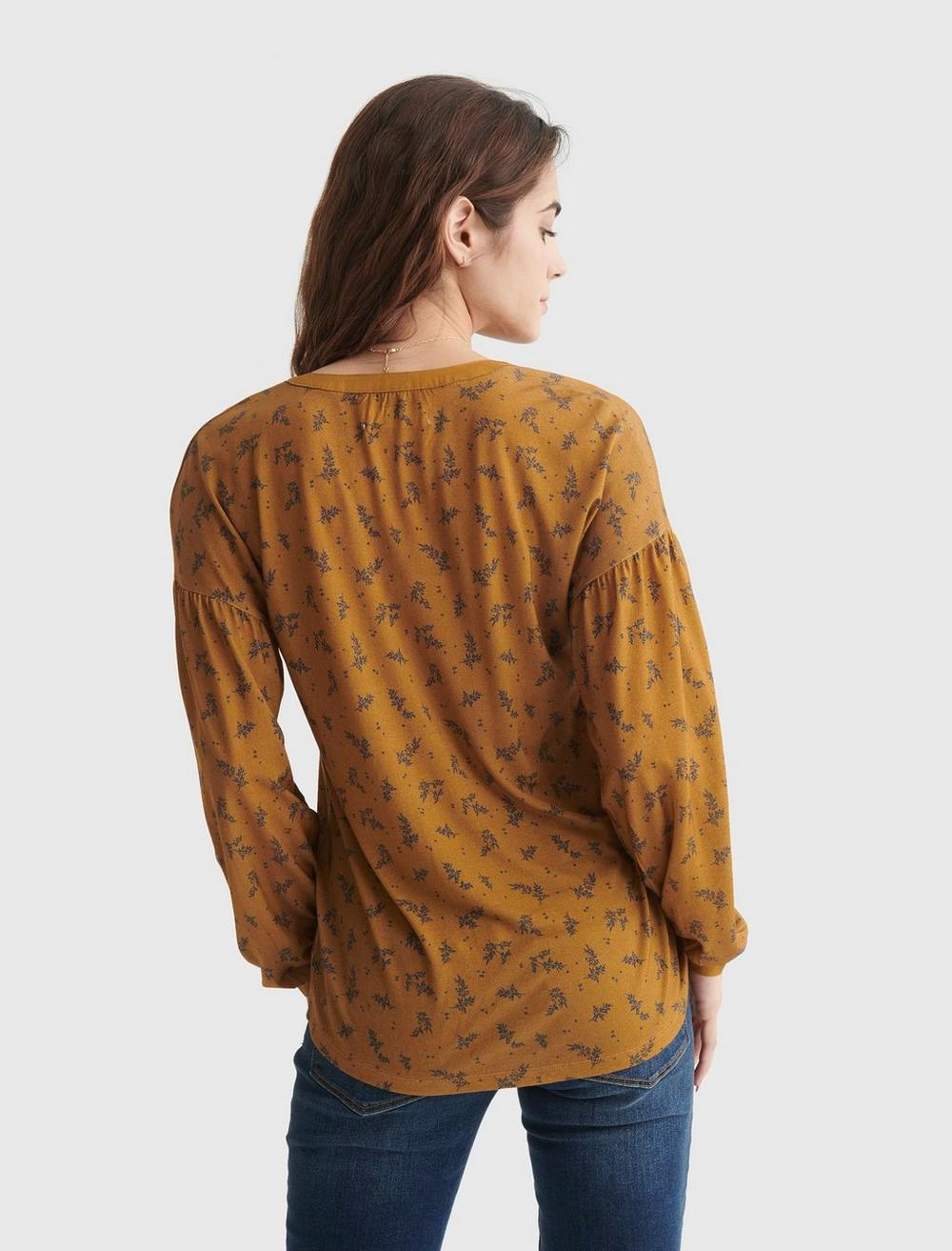 BUTTON-ACCENTED V-NECK TOP, image 5