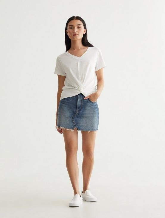 TWIST FRONT TEE, BRIGHT WHITE, productTileDesktop