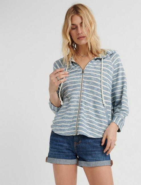 STRIPE HOODED PONCHO,