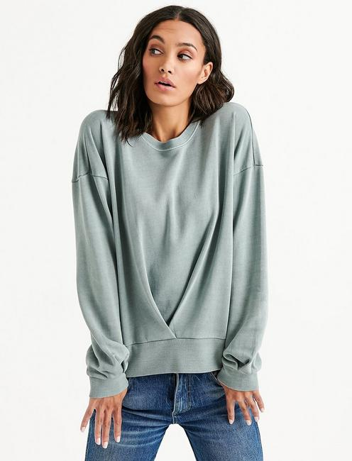 Lucky Pleat Front Pullover