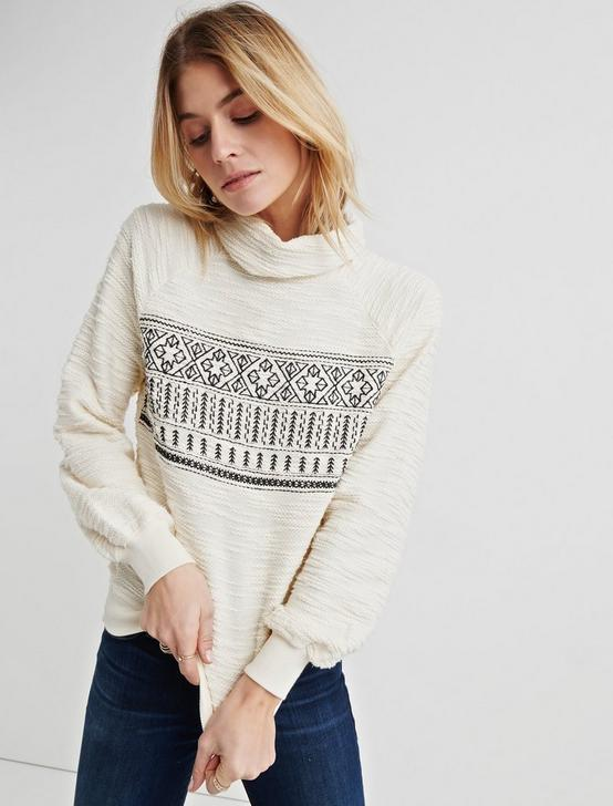 FAIR ISLE TURTLENECK PULLOVER, MARSHMALLOW, productTileDesktop