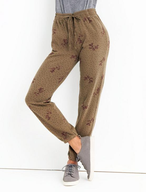 PRINTED PANT, OLIVE MULTI, productTileDesktop