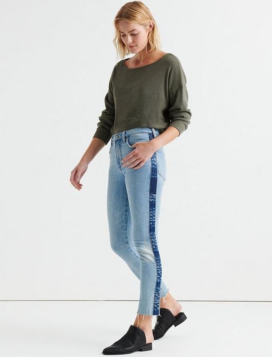 CLOUD JERSEY RIB PULLOVER, OLIVE NIGHT, productTileDesktop