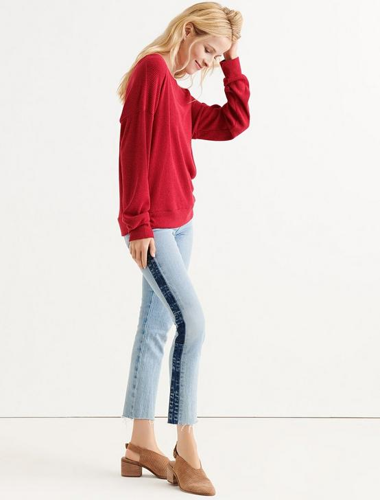 CLOUD JERSEY RIB PULLOVER, CHERRY RED, productTileDesktop