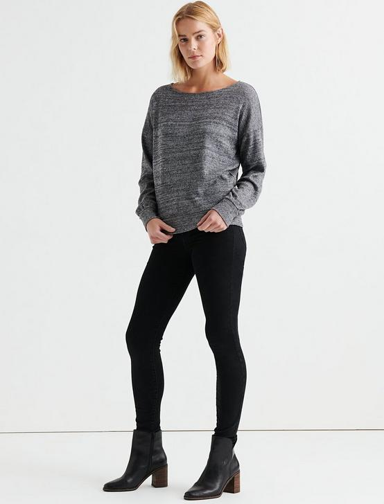 CLOUD JERSEY RIB PULLOVER, BLACK MULTI, productTileDesktop