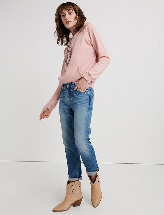 BANDANA HOODED PULLOVER, MELLOW ROSE, productTileDesktop
