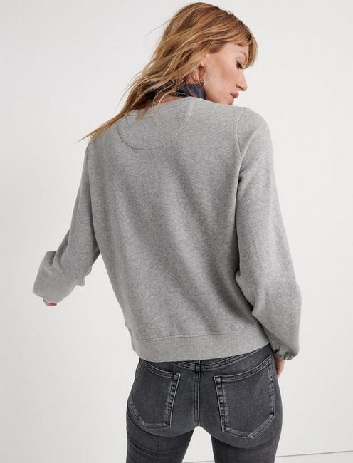 LUCKY WASHED PULLOVER, HEATHER GREY