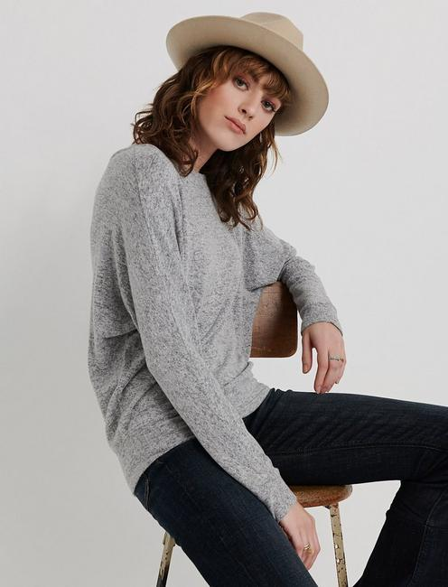 CLOUD JERSEY DOLMAN PULLOVER, CHARCOAL HEATHER
