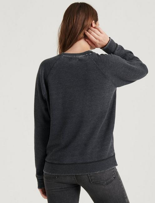 CLASSIC BURNOUT CREW NECK, 001 LUCKY BLACK