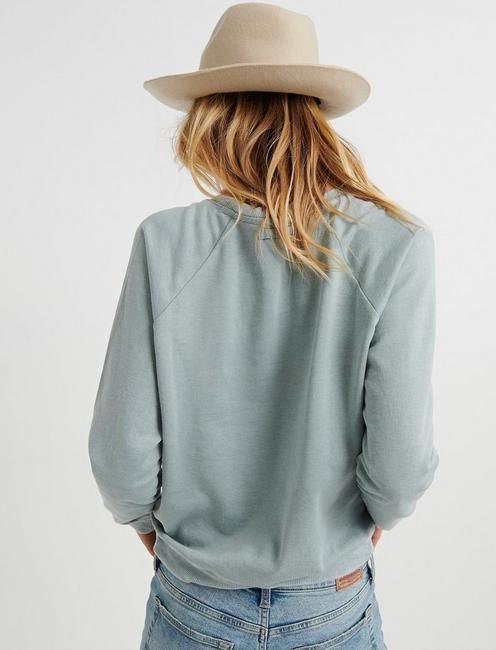 CLASSIC BURNOUT CREW NECK, ICEBERG GREEN