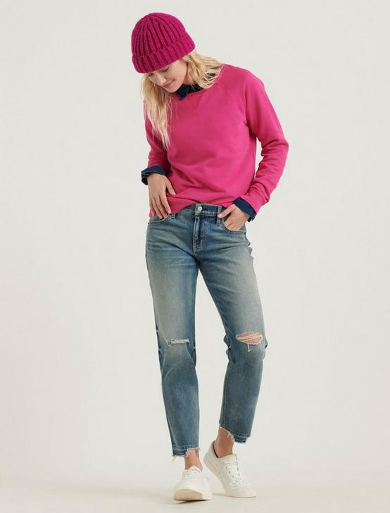 CLASSIC CREW NECK SWEATSHIRT, JULIET PINK, productTileDesktop