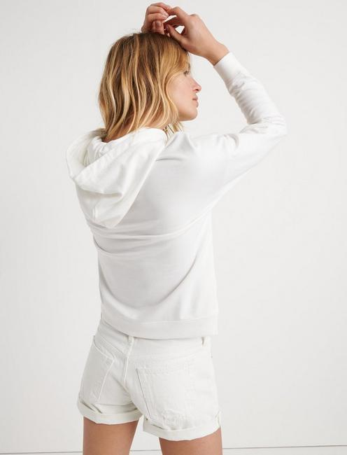 EMBROIDERED HOODIE, LUCKY WHITE