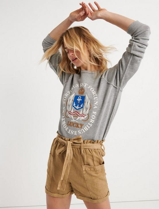 NAUTICAL EMBROIDERED SWEATSHIRT, HEATHER GREY, productTileDesktop