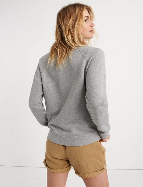 NAUTICAL EMBROIDERED SWEATSHIRT, HEATHER GREY