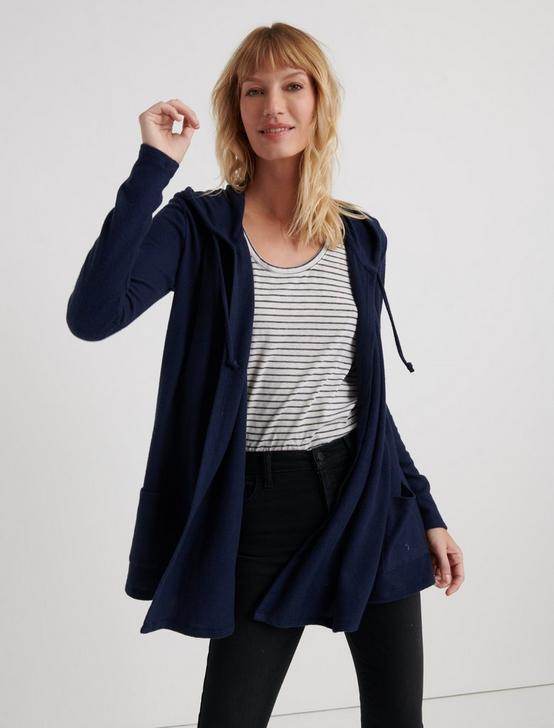 CLOUD JERSEY HOODED CARDIGAN, AMERICAN NAVY, productTileDesktop