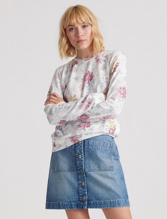 FLORAL PRINTED SWEATSHIRT, MULTI, productTileDesktop
