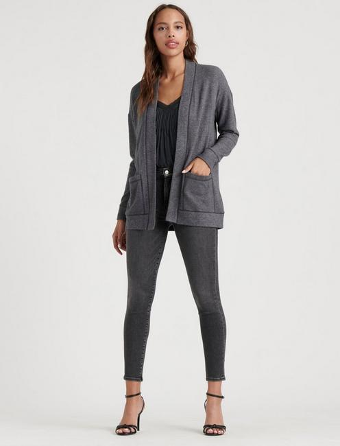 HARLAN CLOUD JERSEY CARDIGAN, MEDIUM HEATHER GREY