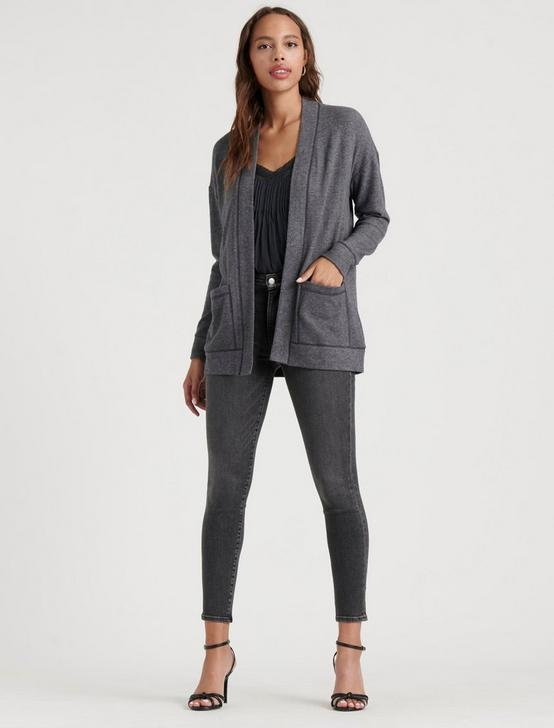 HARLAN CLOUD JERSEY CARDIGAN, MEDIUM HEATHER GREY, productTileDesktop
