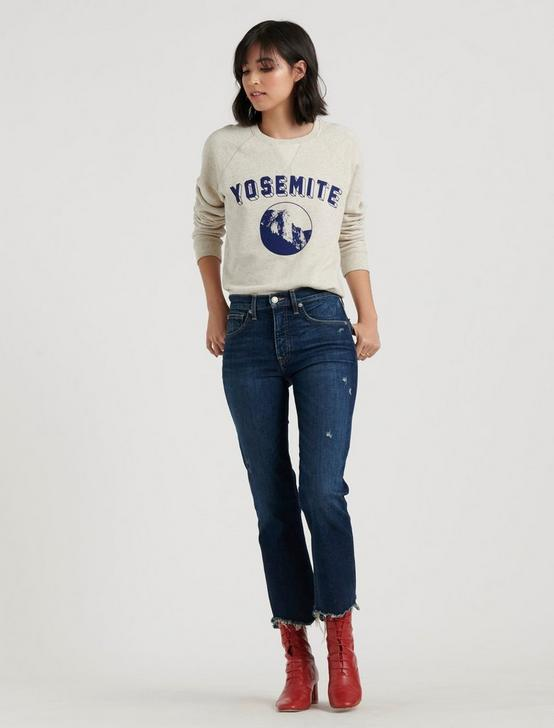 YOSEMITE CREW SWEATSHIRT, OATMEAL HEATHER, productTileDesktop