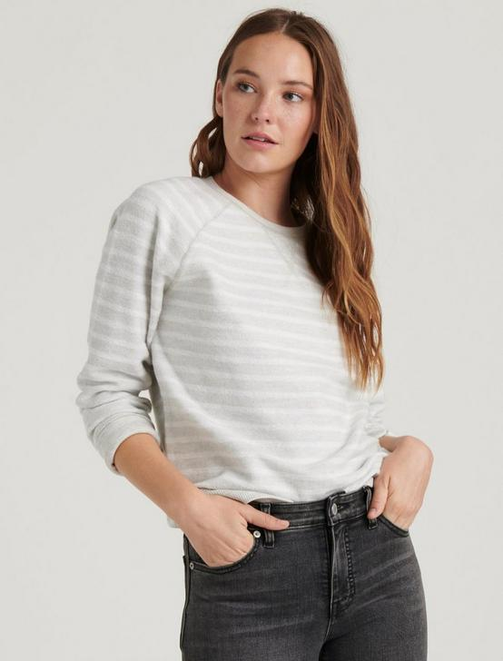 BRUSHED STRIPE SWEATSHIRT, GREY MULTI, productTileDesktop