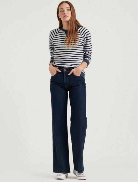 BRUSHED STRIPE SWEATSHIRT, NAVY MULTI, productTileDesktop