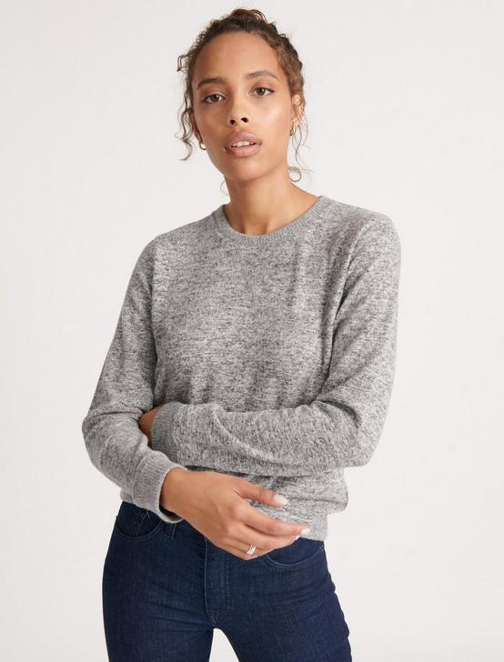 CLOUD JERSEY SWEATSHIRT, HEATHER GREY, productTileDesktop