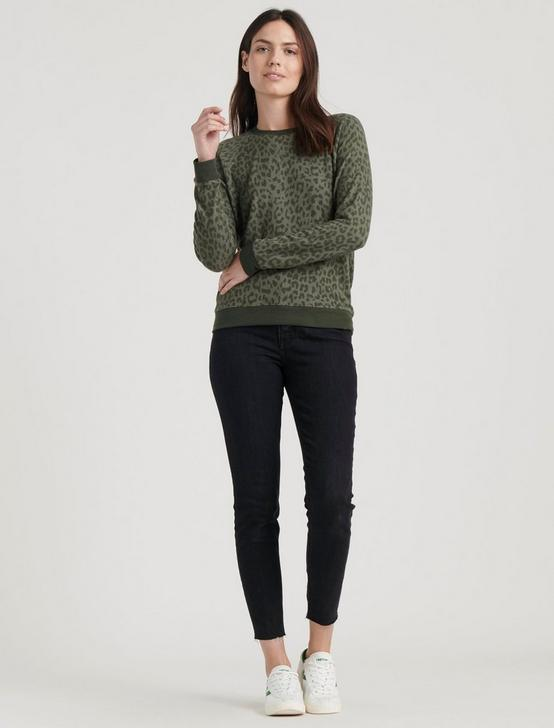 CHEETAH PRINT PULLOVER, OLIVE, productTileDesktop