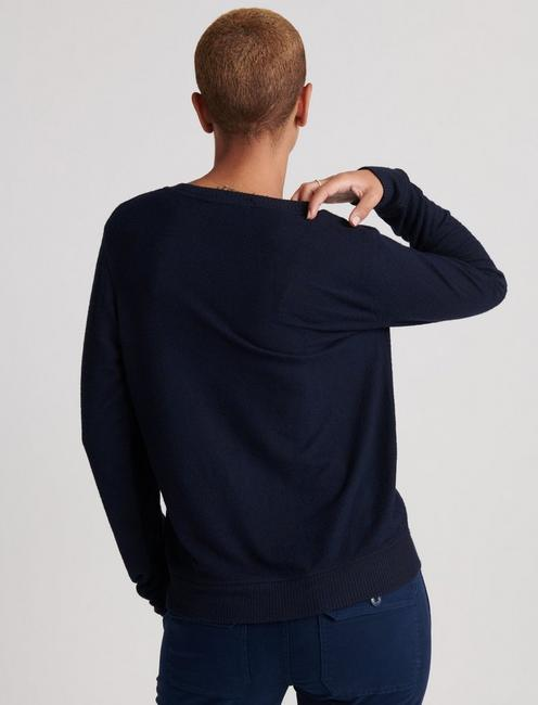 FLORAL EMBROIDERED SWEATSHIRT, AMERICAN NAVY