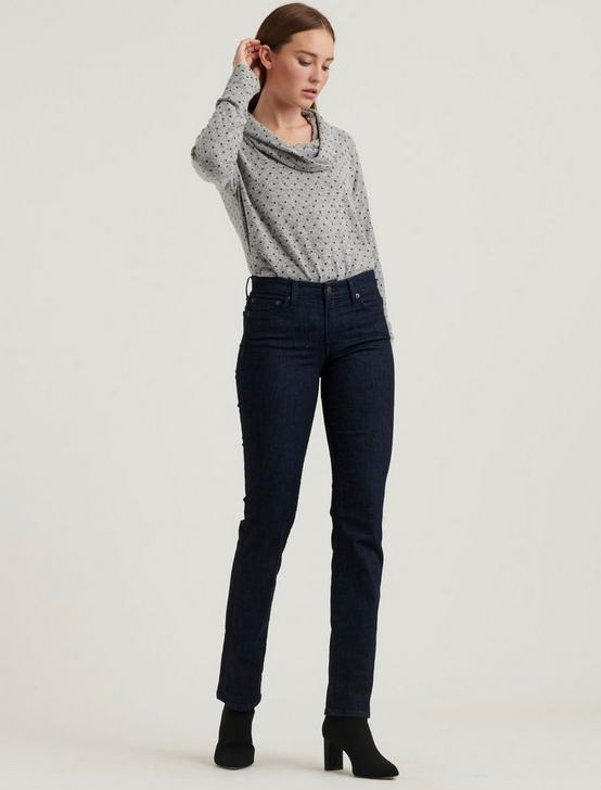 COWL NECK CLOUD JERSEY DOT TOP, HEATHER GREY, productTileDesktop