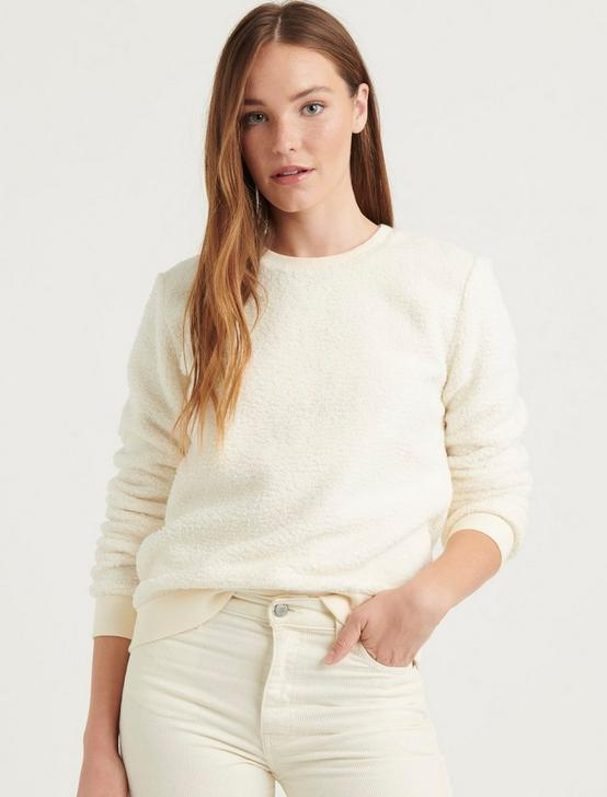 SHERPA CREW NECK SWEATSHIRT, BIRCH, productTileDesktop