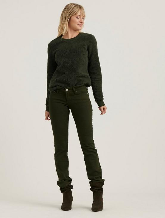 SHERPA CREW NECK PULLOVER, OLIVE, productTileDesktop