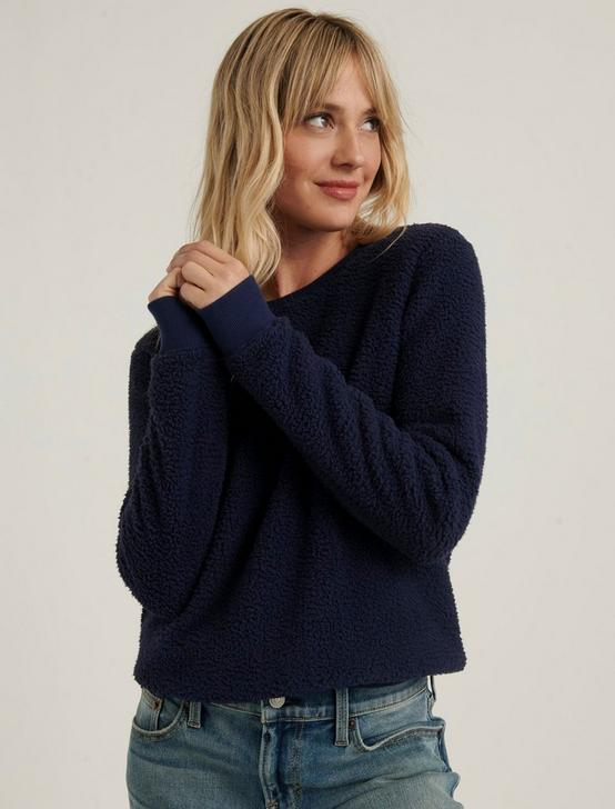 SHERPA CREW NECK PULLOVER, AMERICAN NAVY, productTileDesktop