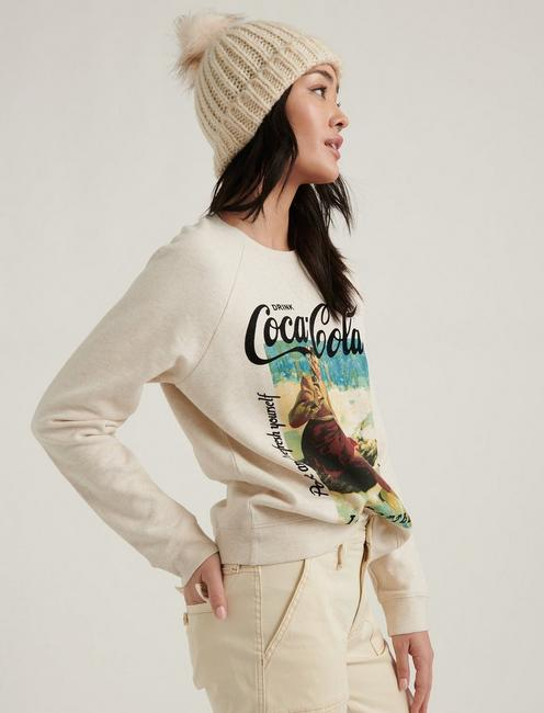 COCA-COLA CREW NECK SWEATSHIRT, OATMEAL