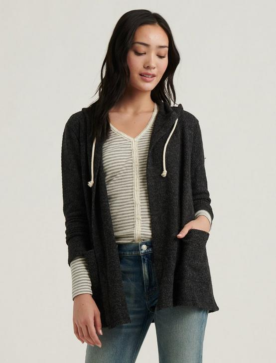 SWIT HOODED CARDIGAN, CHARCOAL HEATHER, productTileDesktop