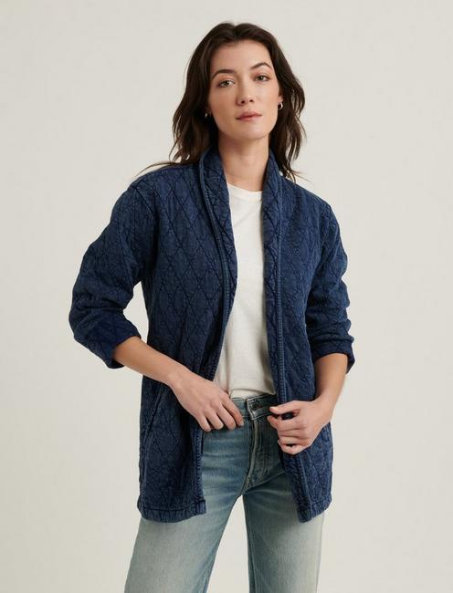 OPEN QUILTED JACKET,