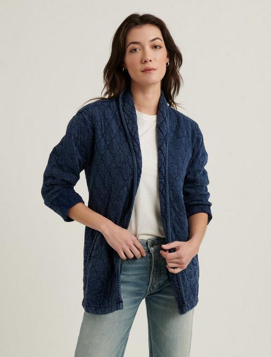 OPEN QUILTED JACKET, # 419 INDIGO, productTileDesktop