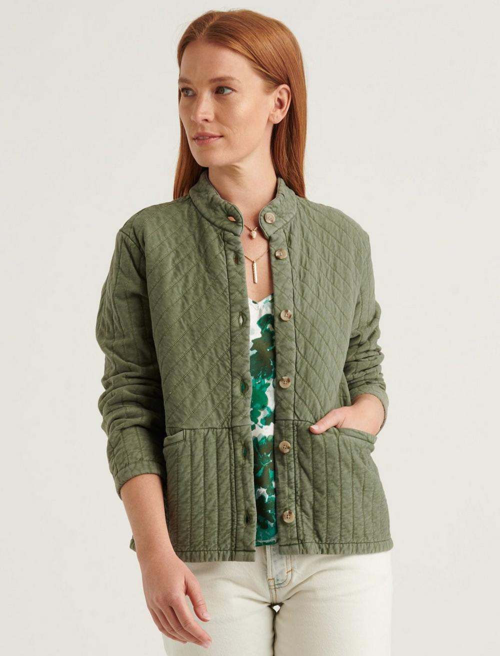 QUILTED BUTTON FRONT JACKET, image 1