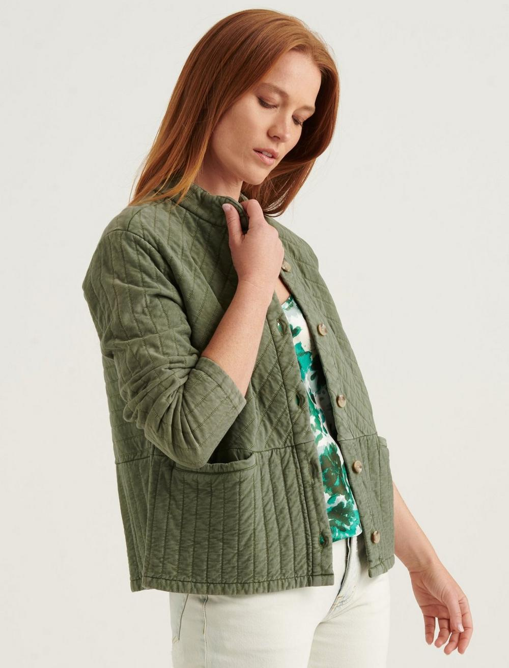 QUILTED BUTTON FRONT JACKET, image 3