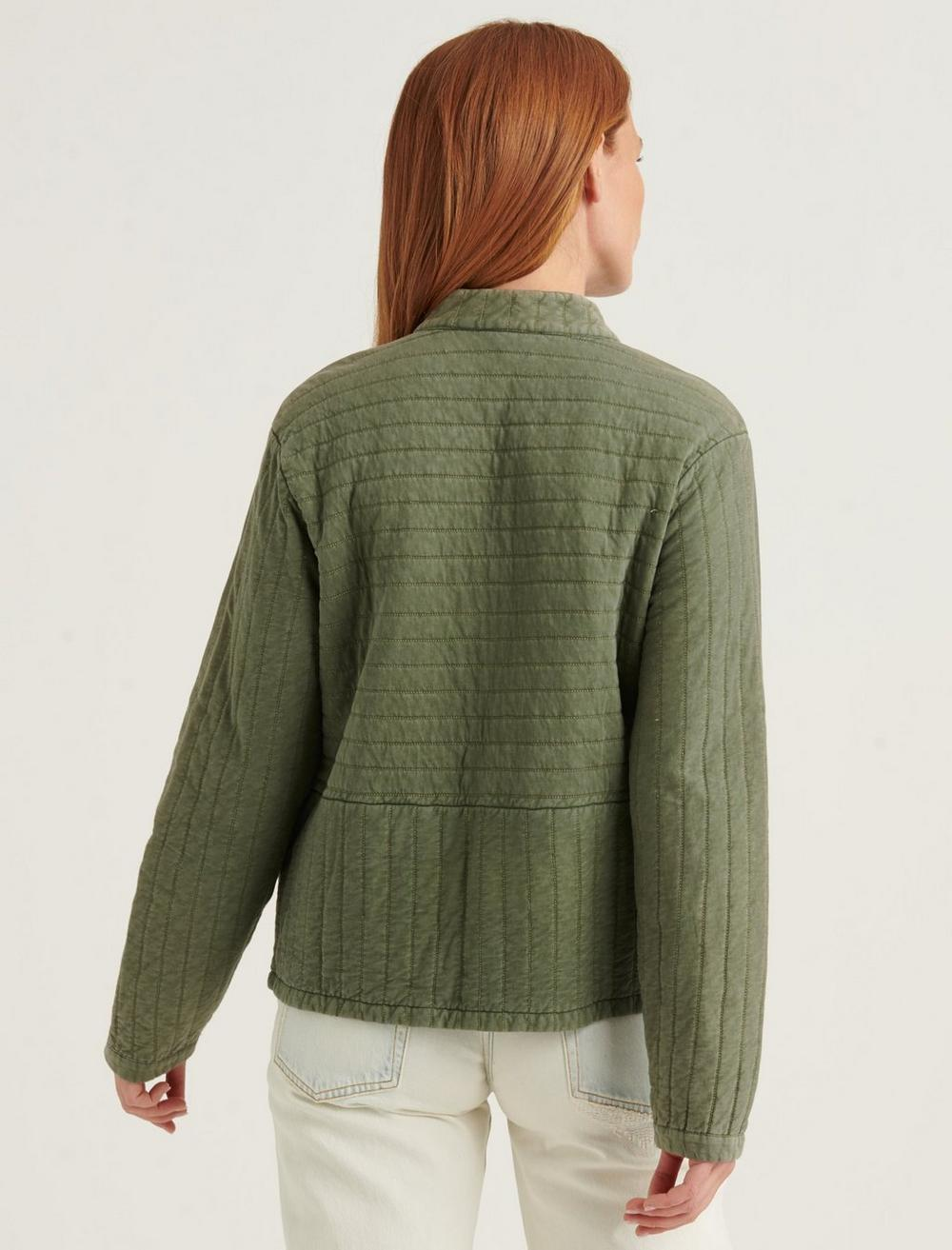 QUILTED BUTTON FRONT JACKET, image 4