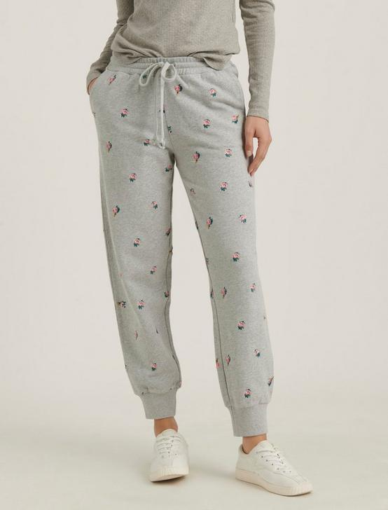 ALLOVER EMBROIDERED JOGGER, HEATHER GREY, productTileDesktop