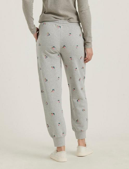 ALLOVER EMBROIDERED JOGGER, HEATHER GREY