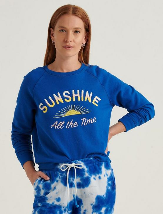 SUNSHINE CREW NECK SWEATSHIRT, BLUE MULTI, productTileDesktop