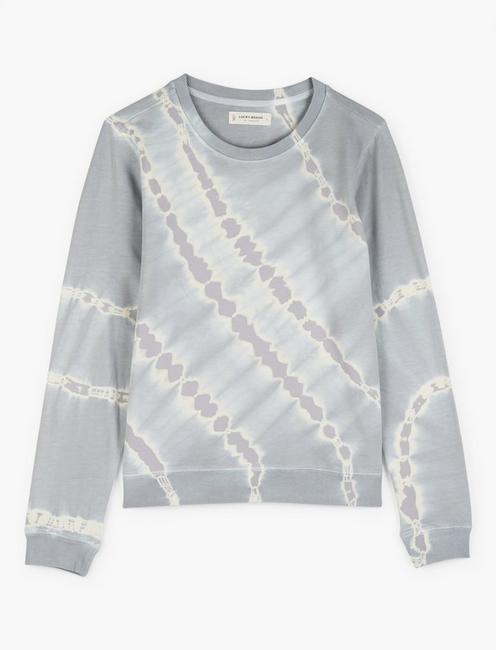 TIE DYE CREW NECK SWEATSHIRT, GREY MULTI