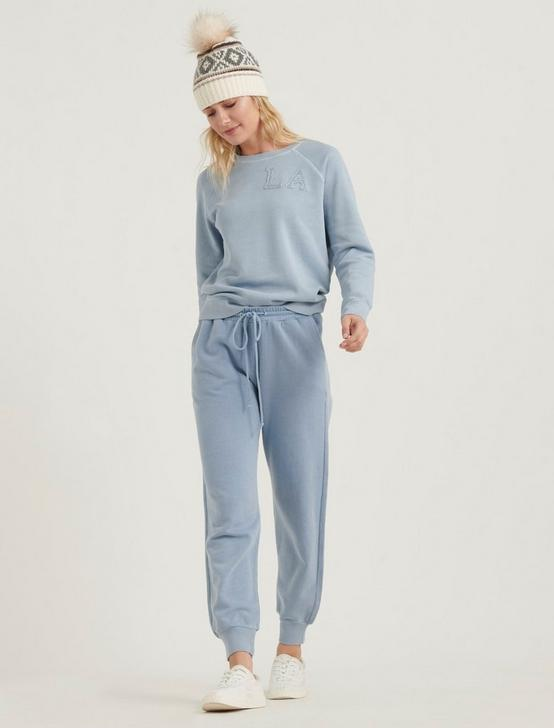 WASHED JOGGER PANT, POWDER BLUE, productTileDesktop