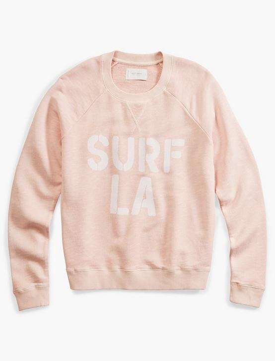 SURF GRAPHIC SWEATSHIRT, BLUSHING BRIDE, productTileDesktop