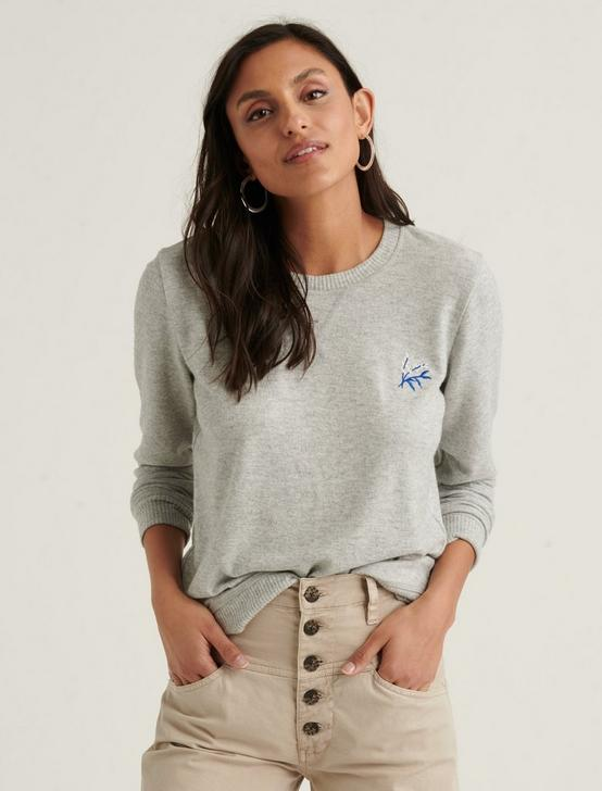 EMBROIDERED CLOUD JERSEY PULLOVER, HEATHER GREY, productTileDesktop