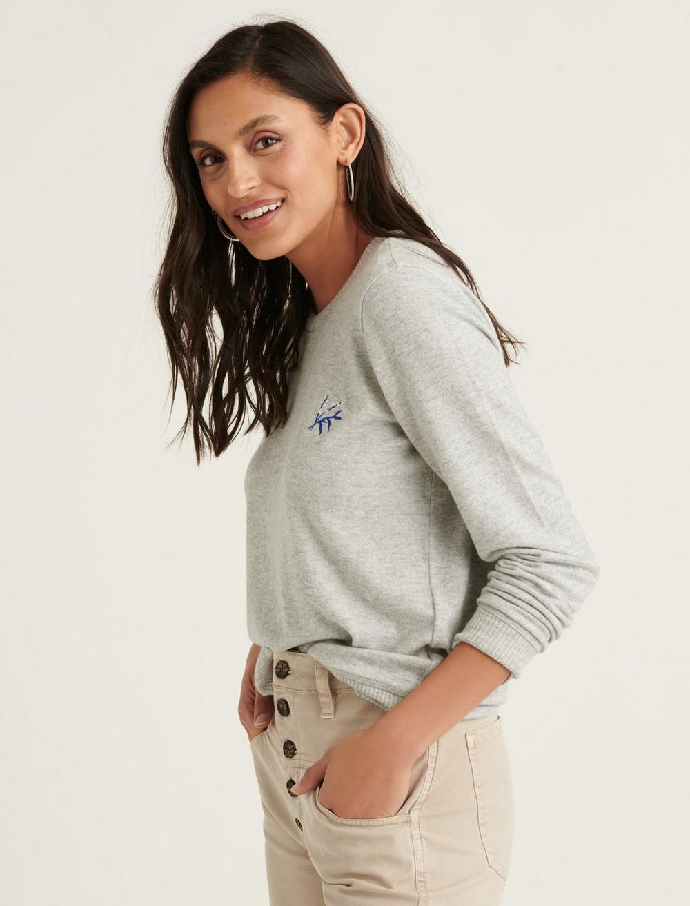EMBROIDERED CLOUD JERSEY PULLOVER, image 3