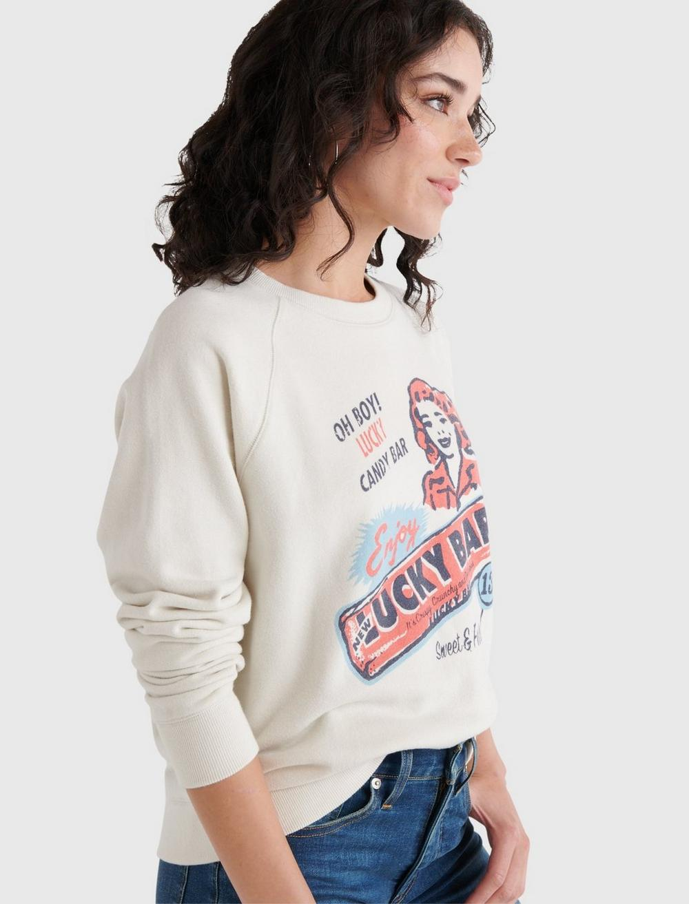 LUCKY BAR GRAPHIC CREW PULLOVER, image 3